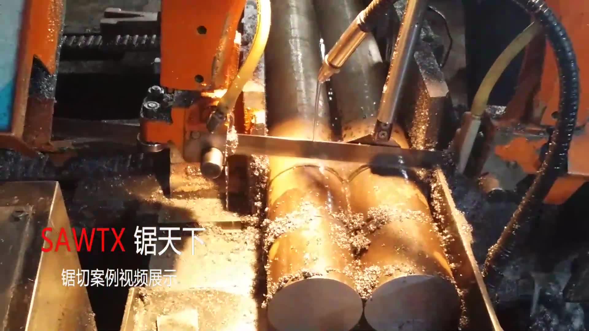 BFJY北方锯业V6-GZK4025数控带锯床合金钢锯切现场